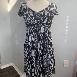 INC International Concepts Black White Dress